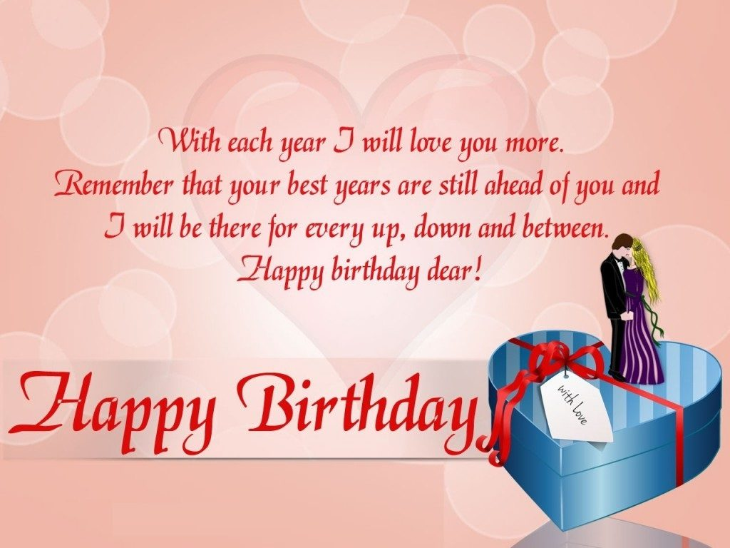 Romantic Birthday Wishes for Husband Images