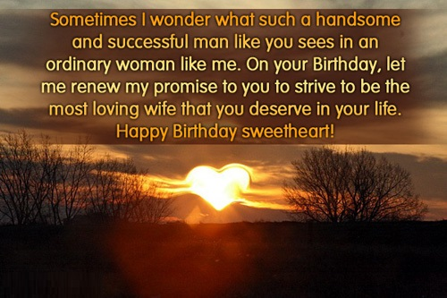 Husband Birthday Messages from wife